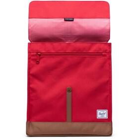 Herschel City Mid-Volume Zaino 14l, red/saddle brown